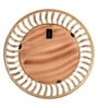 Gold Aluminium Round Wall Mirror by Cocovey