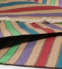 Multicolour Cotton 24 x 36 Inch Nikunj Stripe Hand-Woven Dhurrie by Contrast Living
