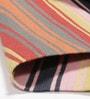 Contrast Living Multicolour Cotton 72 x 48 Inch Stripe Shuttle Geometric Area Rug