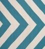 Contrast Living Multicolour Cotton 78 x 117 Inch Stripe Shuttle Area Rug