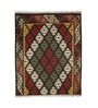 Multicolour Jute 48 x 72 Inch Hand-Woven Printed Dhurrie by Contrast Living