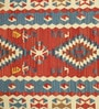 Multicolour Wool & Cotton 48 x 72 Inch Printed Hand-Woven Dhurrie 78 x 54 Inch Printed Hand-Woven Dhurrie by Contrast Living