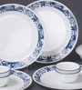 Livingware True Blue Vitrelle Glass Dinner Set - Set of 10 by Corelle