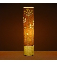 Craftter Flower Of Rounds Yellow Textured Floor Lamp