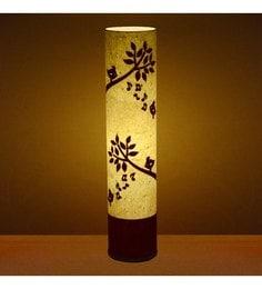 Craftter Singing Bird Red & White Textured Floor Lamp