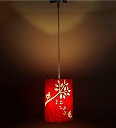 Craftter Singing Birds Red & White 0.5W LED Hanging Lamp