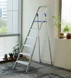 Crust Blue Aluminium 6 Steps 6.4 Ft Ladder