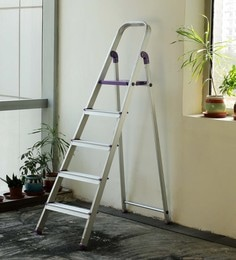 Crust Purple Aluminium 5 Steps 5.7 Ft Ladder