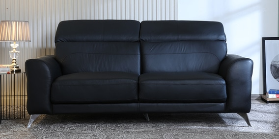 Cristobal 3 Seater Half Leather Sofa