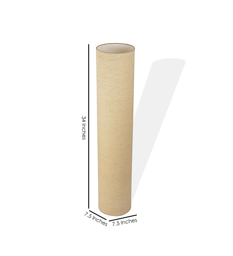 Buy craftter off white pvc cylindrical floor lamp online for White cylinder floor lamp
