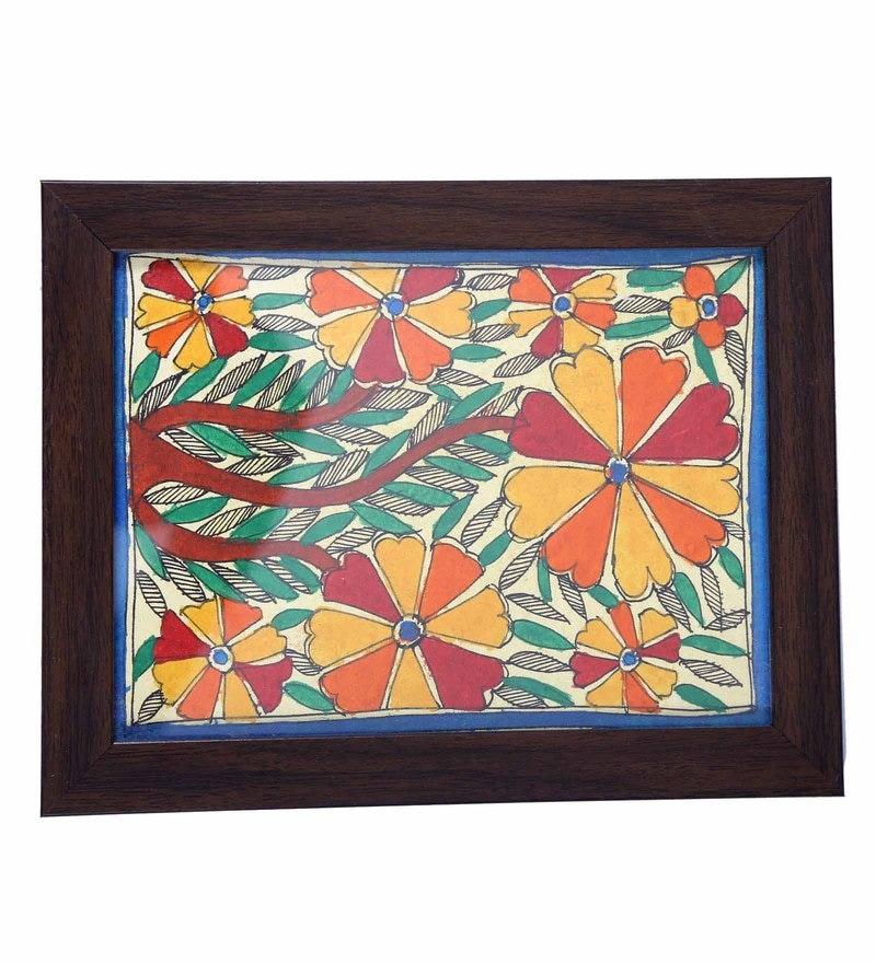 Creationss Floral Design Madhubani Trivet