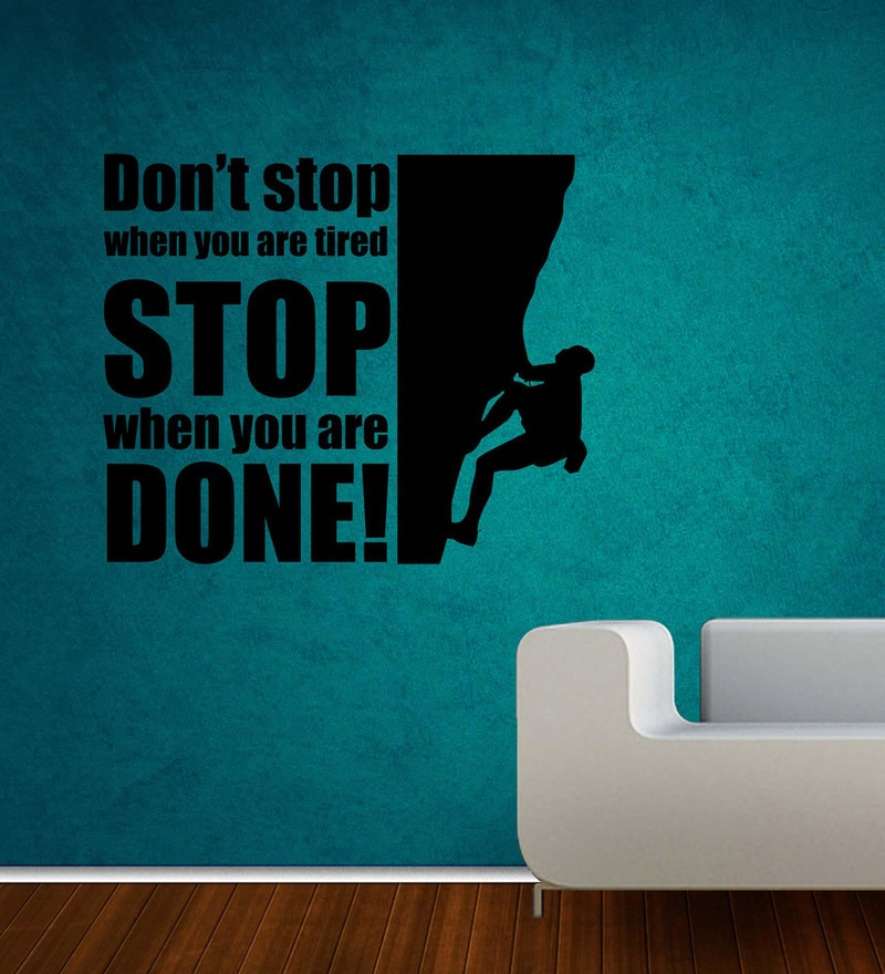 Vinyl Dont Stop Wall Sticker in Black by Creative Width