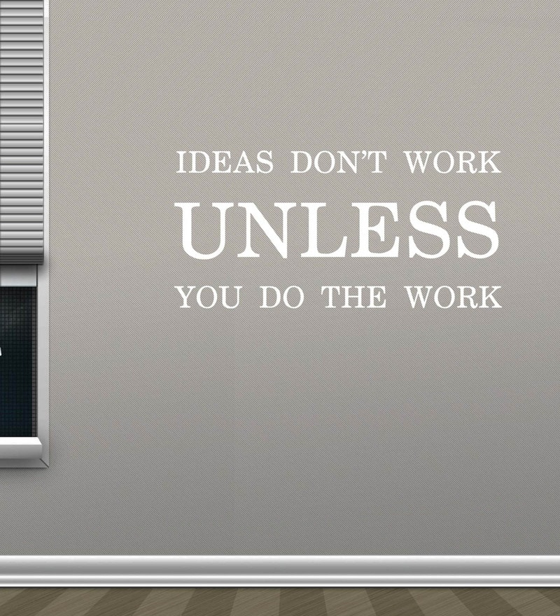 Vinyl Ideas Dont Work Wall Sticker in White by Creative Width
