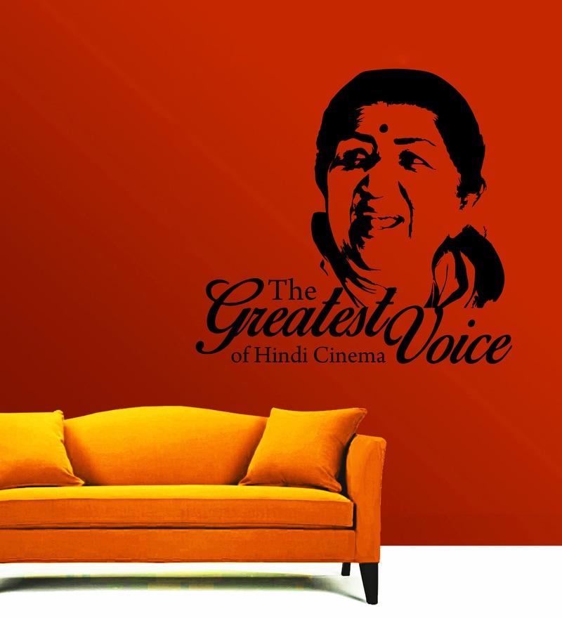 Vinyl Lata Ji Wall Sticker in Black by Creative Width