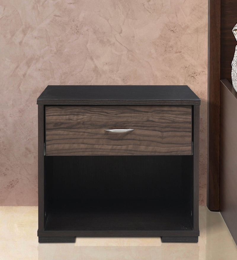 Crysler Side Table In Wenge Finish By Crystal Furnitech
