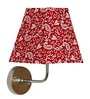 Traditional Keri Design Red Square Fabric Wall Lamp by Craftter