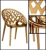 Crystal Designer Chair in Golden Colour by Nilkamal