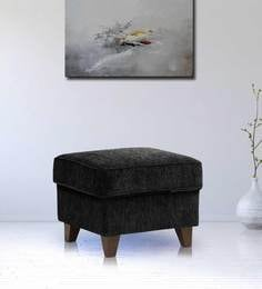 Cushioned Pouffe In Black Colour By Crescent