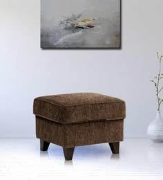 Cushioned Pouffe In Brown Colour By Crescent