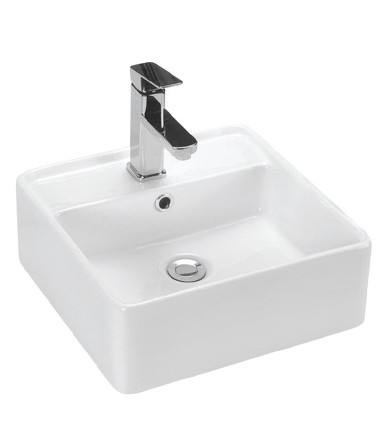 Curo Cannon White Ceramic 16.1 x 16.1 x 5.9 Inch Wash Basin