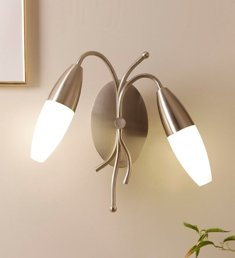 Curved Arms Chrome Wall Light by Jainsons Emporio