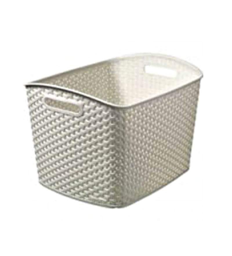 Curver 3609 Plastic White Extra Large Basket
