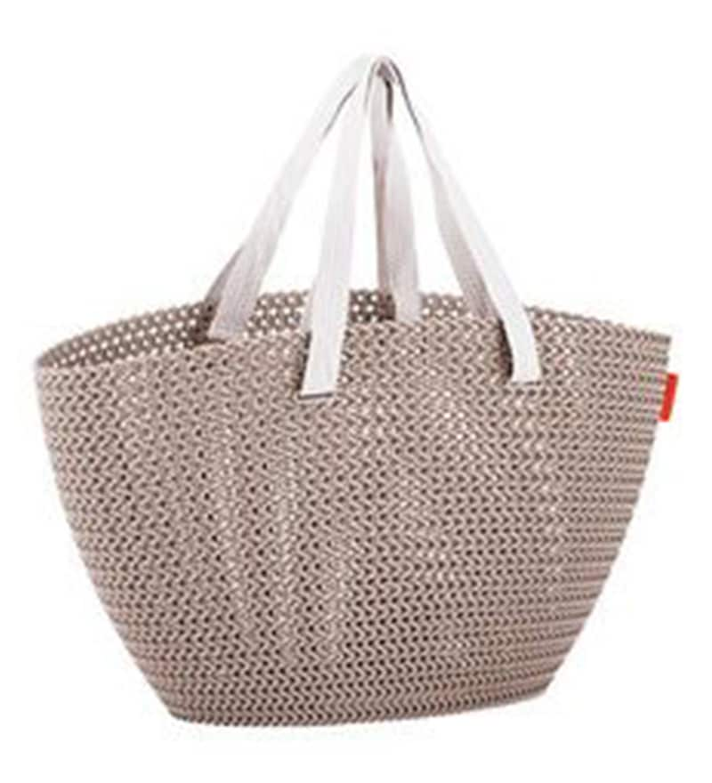 Curver Knit Plastic 23 L Brown Emily Shopping Bag