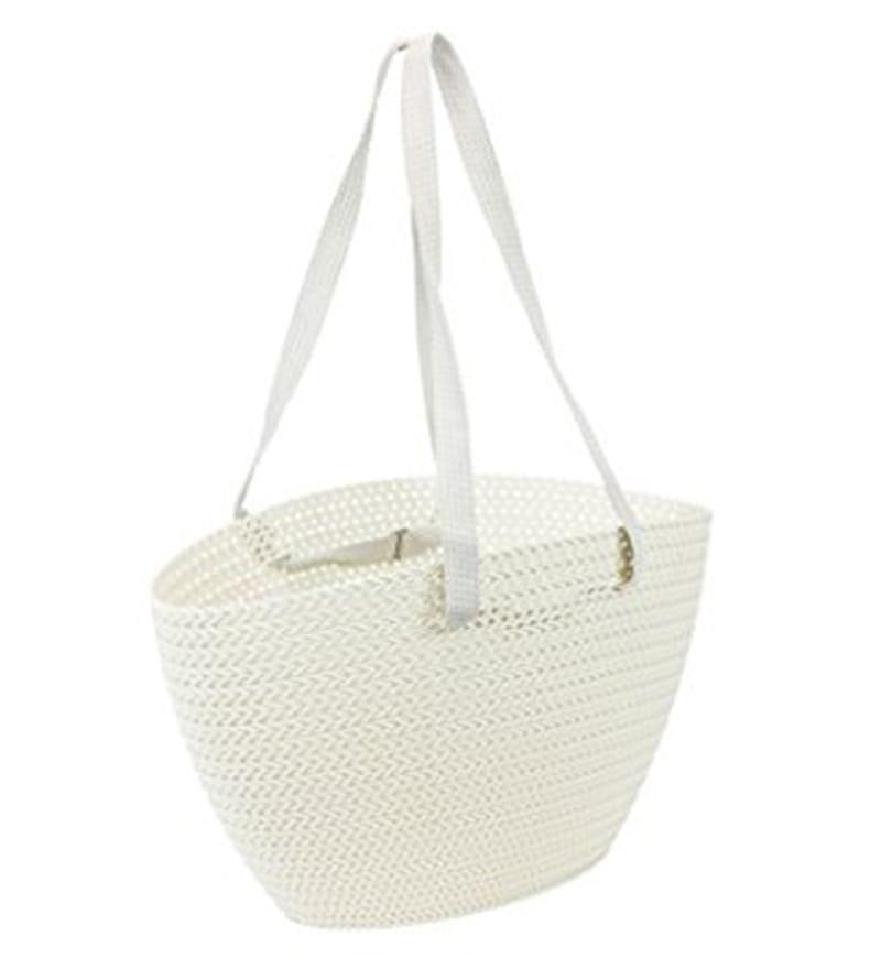 Curver Knit Plastic 23 L White Emily Shopping Bag