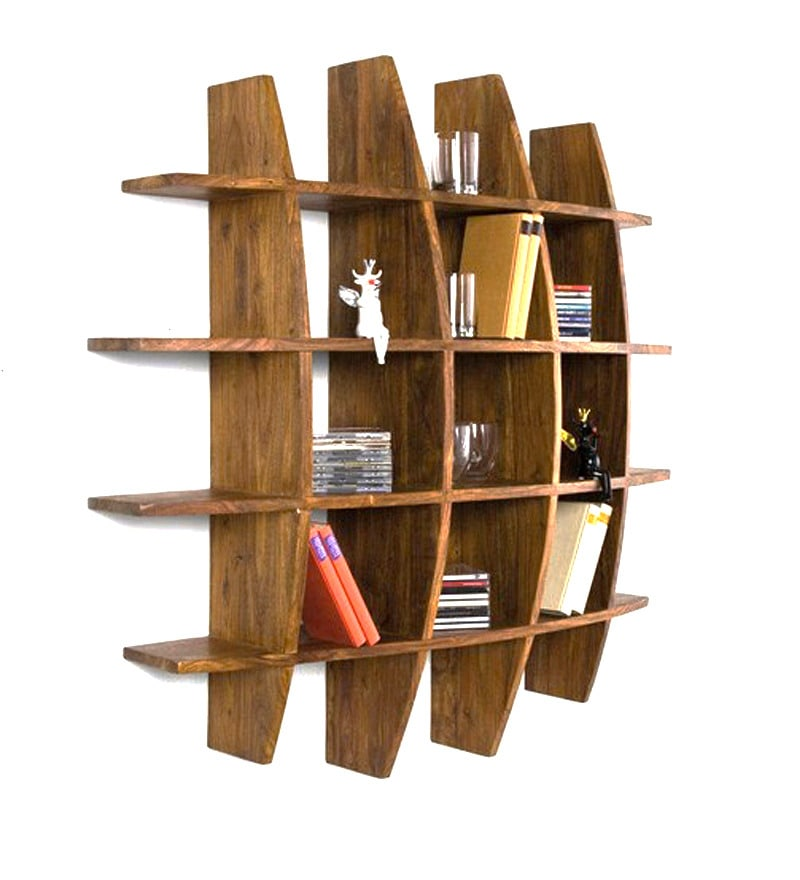 Buy Curvy Round Shaped Wall Rack By Wood Dekor Online Contemporary