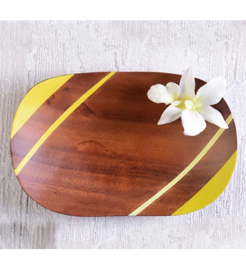 Cyahi Boat Multicolour Wood Platter