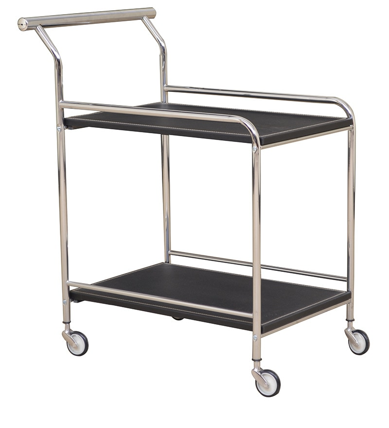 Cyprus Serving Trolley in Black Colour by HomeTown