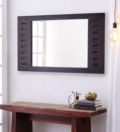 Dark Brown MDF & Sheesham Rajputana Hand Crafted Mirror - 1639466