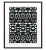 DailyObjects Paper Aztec Pattern Black Framed Art Print