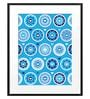 DailyObjects Paper Blue Flowers Framed Art Print
