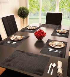 Decorika Reversible Brown PVC Table Mat