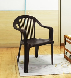 Deluxe Arm Chair In Brown Colour
