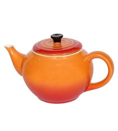 Devnow Tea Pot 1000 Ml Orange Porcelain