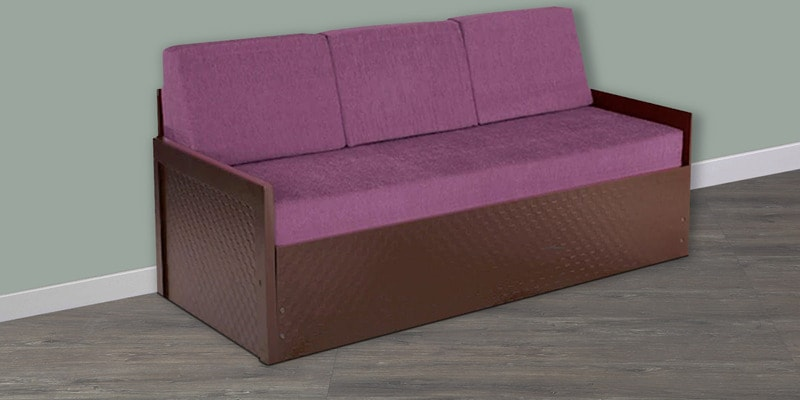 Deborrah Sofa Cum Bed in Purple Colour by Auspicious Home