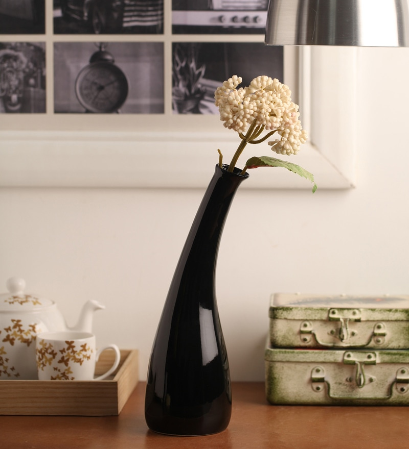 Black Ceramic Vase by Decardo
