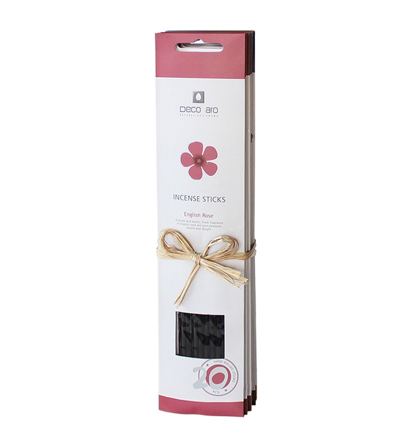 Rose, Vanilla, Hibiscus, Lavender, Jasmine & Water Lilly Incense Stick - Set of 6 by Decoaro