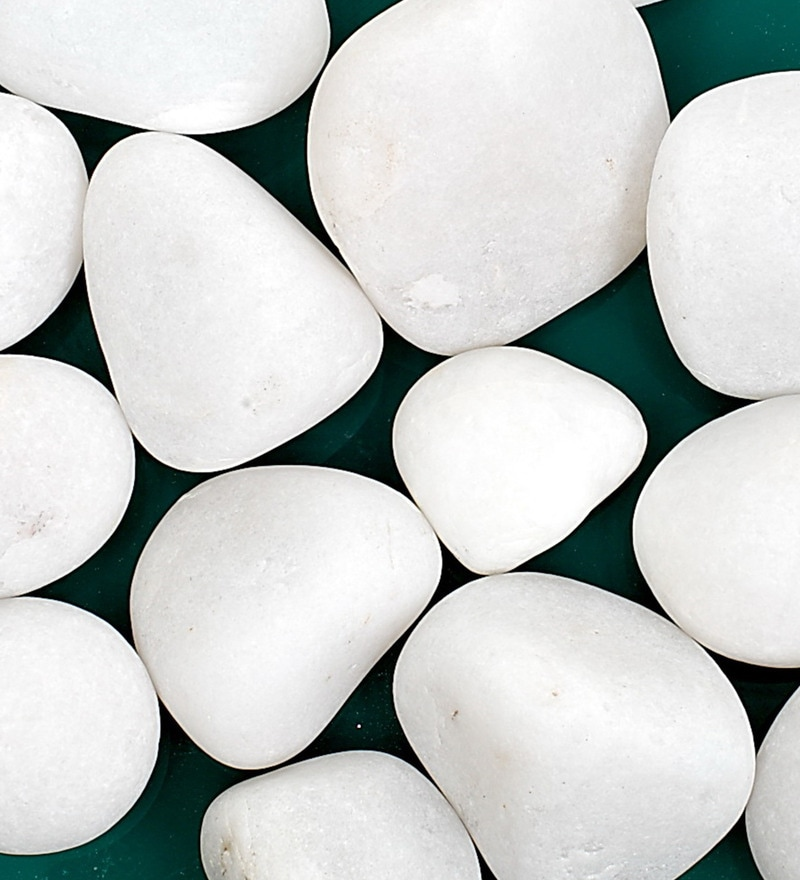 White Stones Pebbles - 5 Kg by Decor Pebbles