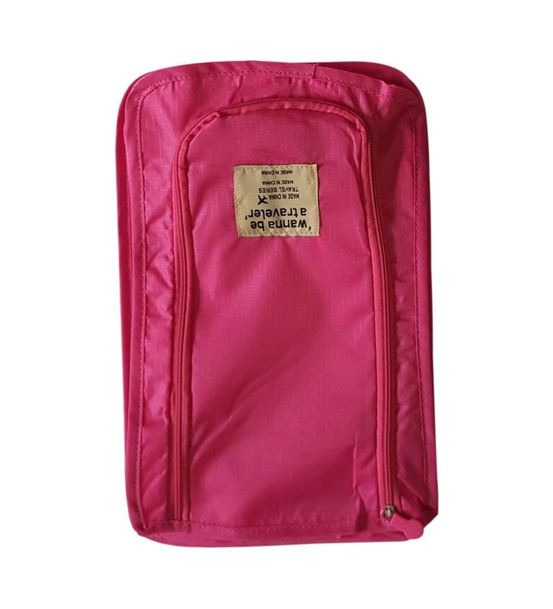 Decorika Nylon Pink Travel Shoe Organiser
