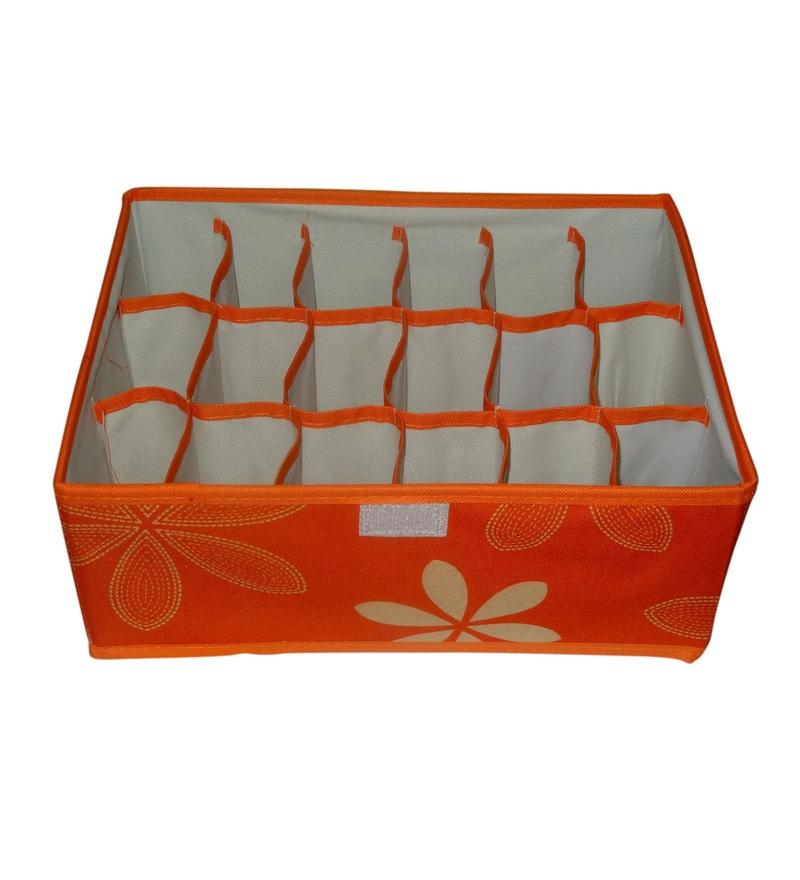 Orange Canvas Clothes Organiser by Decorika