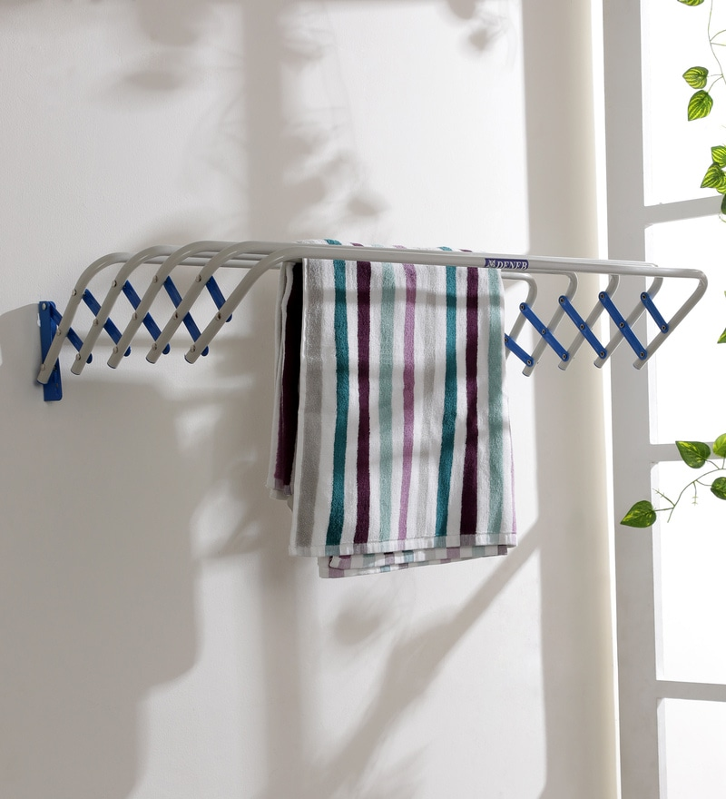 Deneb Tulip Iron Blue Clothes Dryer Medium 80 cm