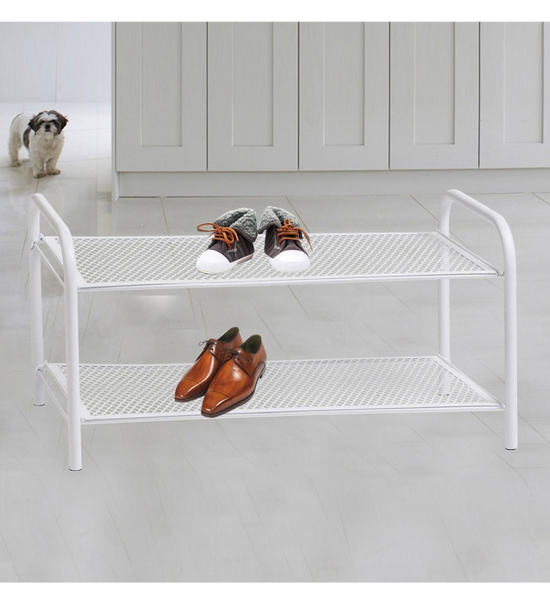 Deneb Multipurpose Metal Rack White with Two shelves