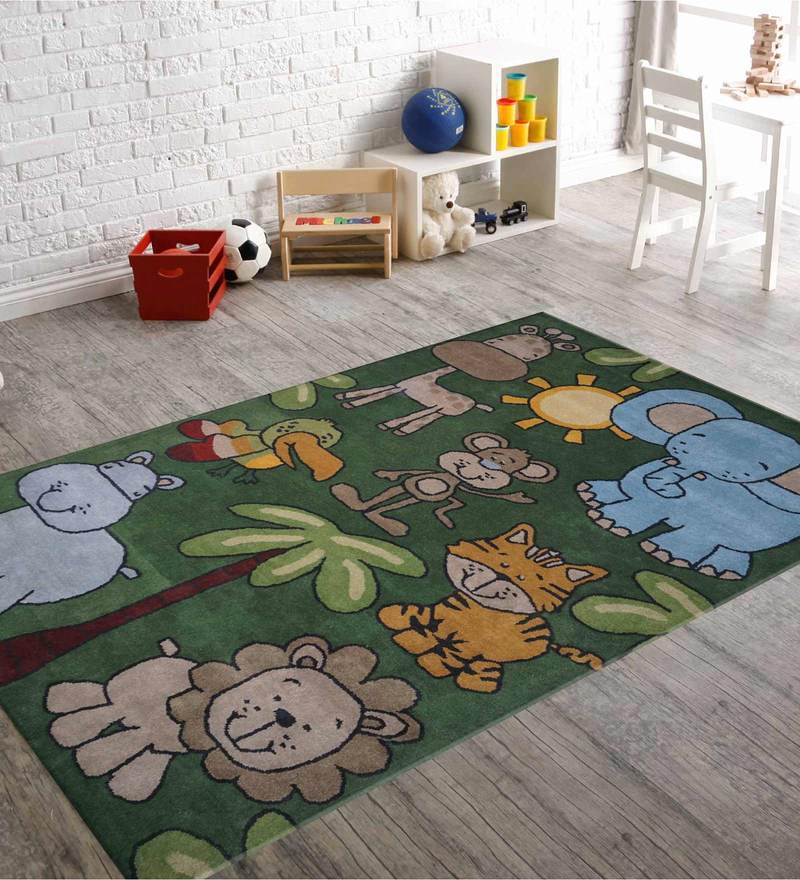 Indian Hand Made Floor Carpet Tufted Kids Animal Design by Designs View