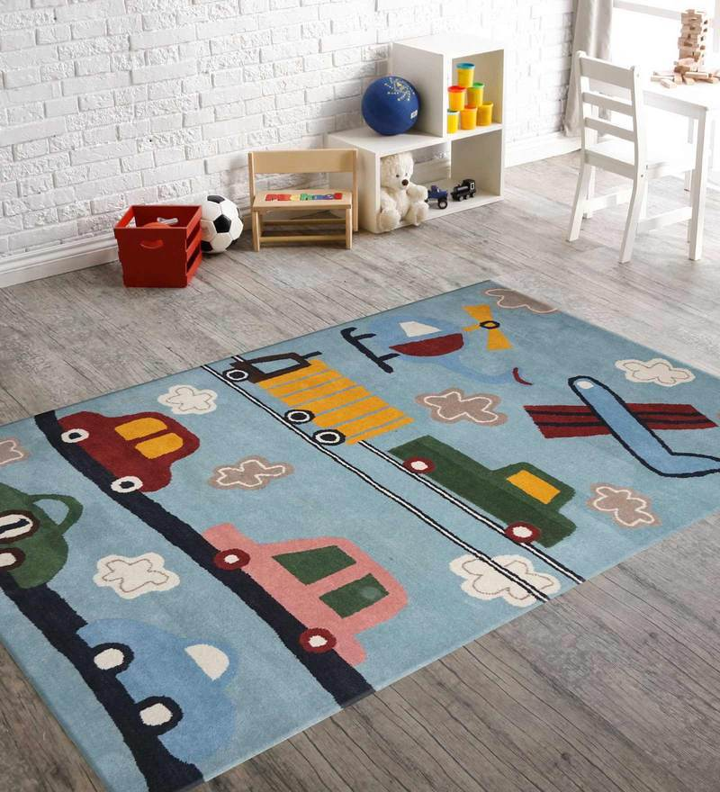 Indian Hand Made Floor Carpet Tufted Kids Car Design by Designs View