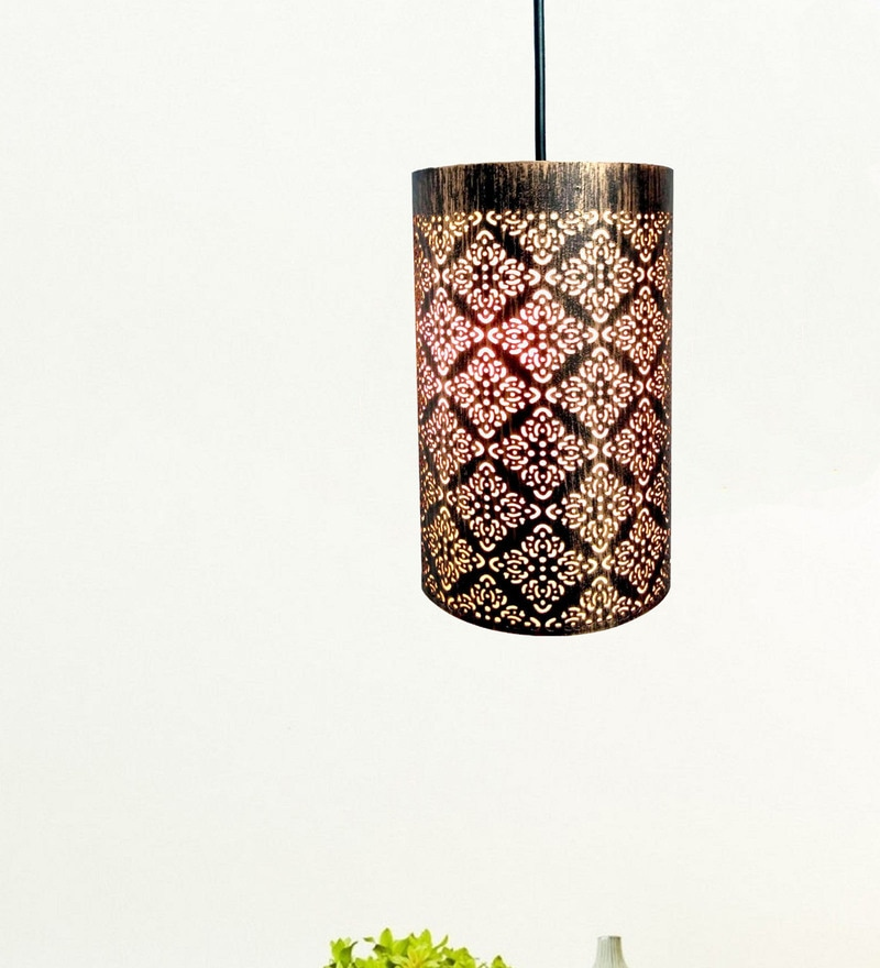 Copper Iron Pendant by Design Villa