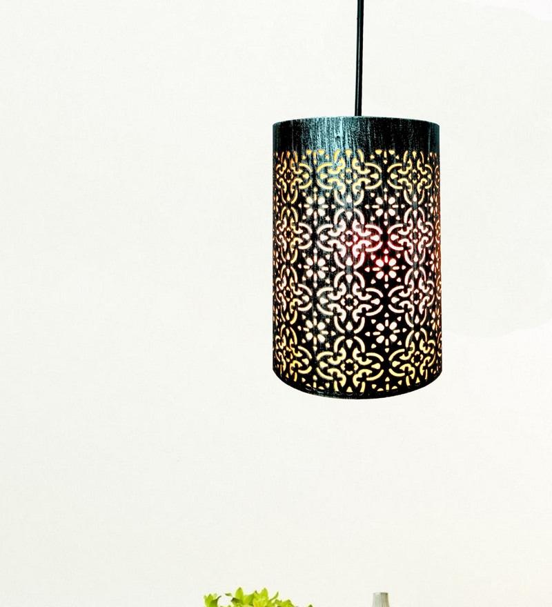 Silver Iron Pendant by Design Villa