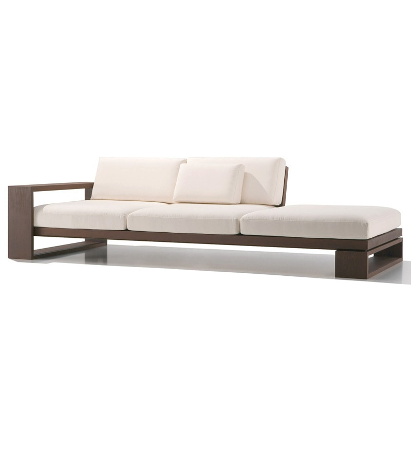 Designer Swiss Three Seater Sofa With Arm Rest-Right Side